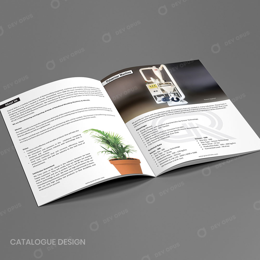 Product Catalogue Design For Gujarat Roto